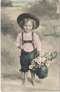 Boy with daisies 001