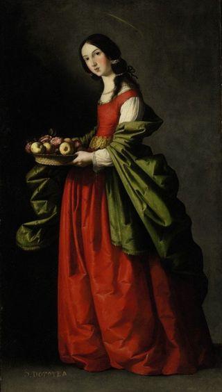 Saint-Dorothy-Francisco-De-Zurbaran-1640-1650-520x916